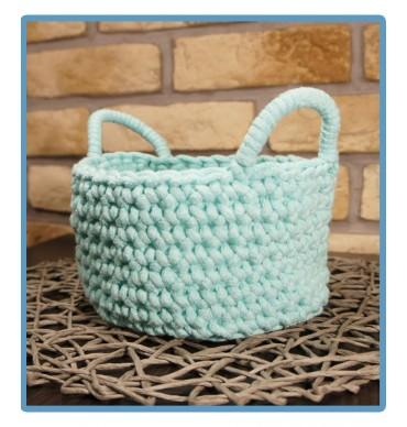 ręcznie robiony koszyk pola handmade ze sznurka bawełnianego