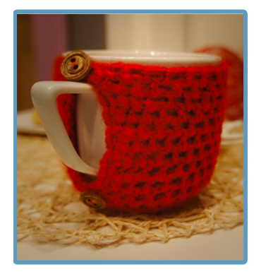 handmade kubek w sweterku ręcznie robiony czaruś
