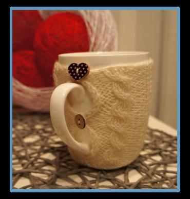 handmade kubek w sweterku ręcznie robiony michaś