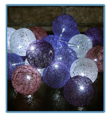 ręcznie robione świecące kule cotton ball star handmade