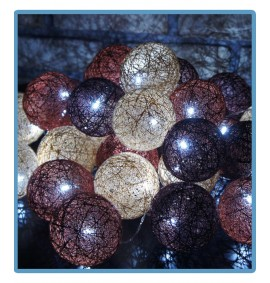 ręcznie robione świecące kule cotton ball mars handmade