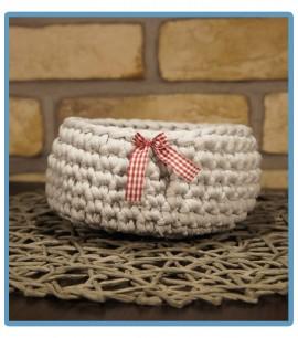ręcznie robiony koszyk liwia handmade ze sznurka bawełnianego