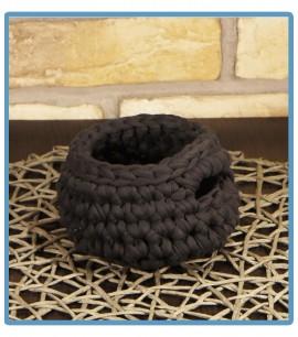 ręcznie robiony koszyk lea handmade ze sznurka bawełnianego