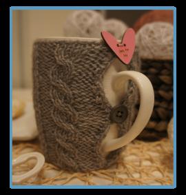 handmade kubek w sweterku ręcznie robiony marcel