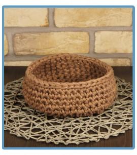 ręcznie robiony koszyk lidia handmade ze sznurka bawełnianego