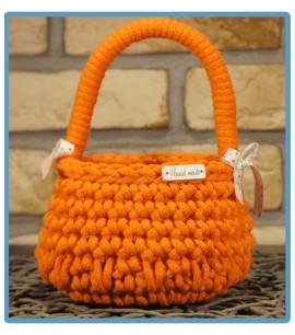 ręcznie robiony koszyk wielkanocny handmade ze sznurka bawełnianego maja