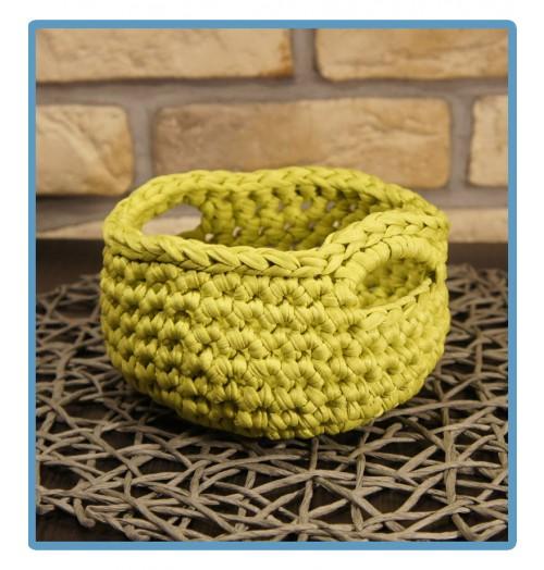 ręcznie robiony koszyk jowita handmade ze sznurka bawełnianego