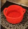 ręcznie robiony koszyk oksana handmade ze sznurka bawełnianego