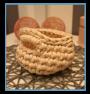 ręcznie robiony koszyk iwona handmade ze sznurka bawełnianego