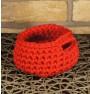 ręcznie robiony koszyk julia handmade ze sznurka bawełnianego