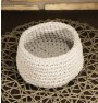 ręcznie robiony koszyk jola handmade ze sznurka bawełnianego