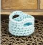 ręcznie robiony koszyk nina handmade ze sznurka bawełnianego