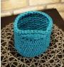 ręcznie robiony koszyk magda handmade ze sznurka bawełnianego