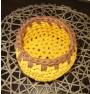 ręcznie robiony koszyk klaudia handmade ze sznurka bawełnianego