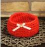 ręcznie robiony koszyk danusia handmade ze sznurka bawełnianego