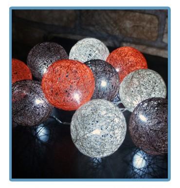 ręcznie robione świecące kule cotton ball cornet handmade