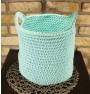 ręcznie robiony koszyk larisa handmade ze sznurka bawełnianego